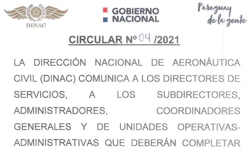 Circular N° 04/2021
